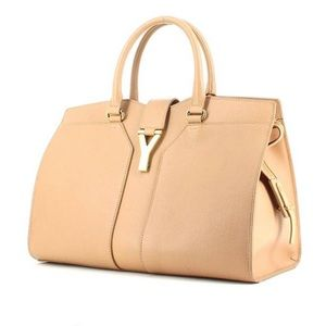 Yves Saint Laurent Chyc bag beige grained leather